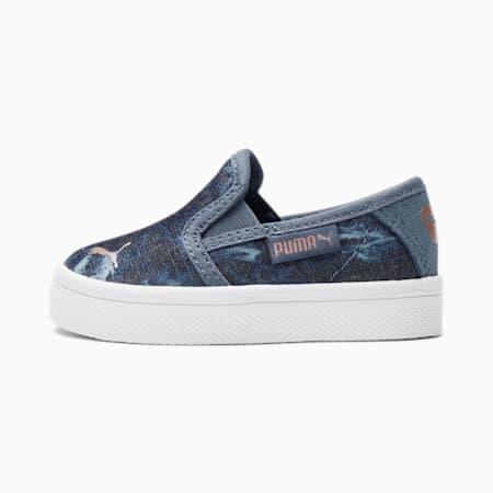 Zapatos sin cordones BariTextile Indigopara bebé, China Blue-Rose Gold, pequeño