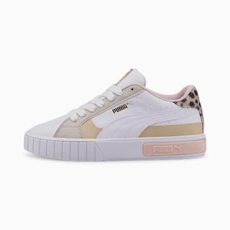 Zapatos deportivos Cali Star Feline para mujer, Puma White-Peyote, pequeño