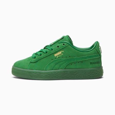 Zapatos deportivos PUMA x HARIBO Suede para niños pequeños, Amazon Green-Amazon Green, pequeño