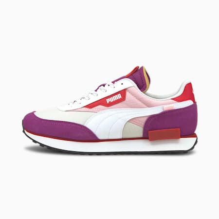 Future Rider Plum Trainers, Byzantium- White-Pink Lady, small-GBR