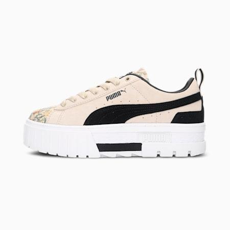Mayze Botanics Women's Sneakers, Pebble-Puma White-Puma Black, small-IND