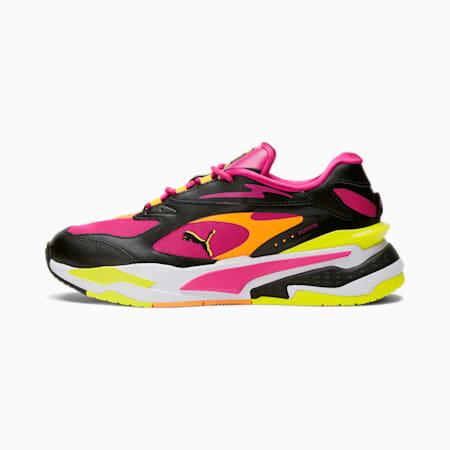 Zapatos deportivos RS-Fast City Lights para mujer, Purple- Black-Nrgy Yellow, pequeño