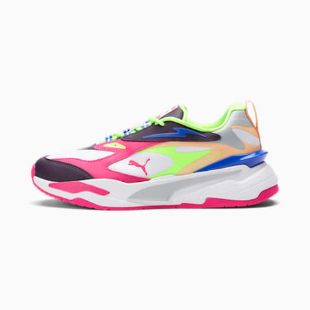 Zapatos deportivos RS-Fast Pop para mujer, Puma White-Sweet Grape-Beetroot Purple, pequeño