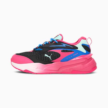 Zapatos deportivos RS-Fast Surveillance para mujer, Puma Black-Beetroot Purple-Bluemazing, pequeño