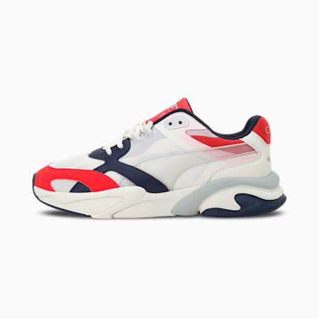 one8 X-Ray Lite Millenium Unisex Shoes, Ivory Glow-Gray Violet-High Risk Red, small-IND