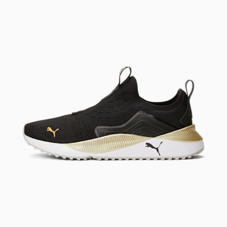 Pacer Future Slip-On Women's Sneakers, Puma Black-Puma Team Gold, pequeño