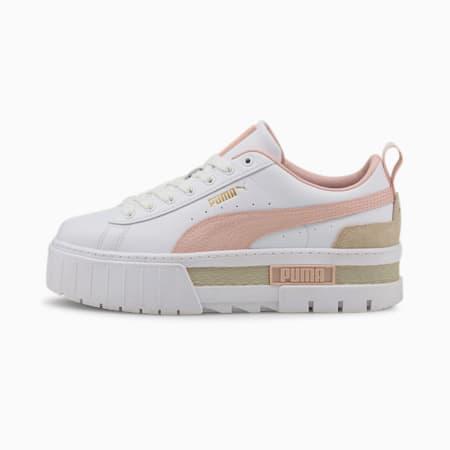 Mayze Tumbled Damen Sneakers, Puma White-Lotus-Puma Team Gold, small