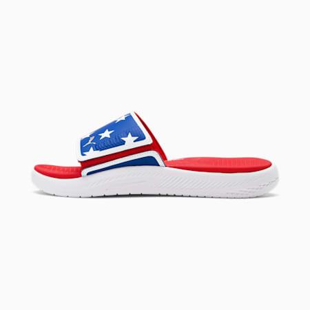 SandaliasPlay United USA Softride, Urban Red-Puma White-Lpis Bl, pequeño