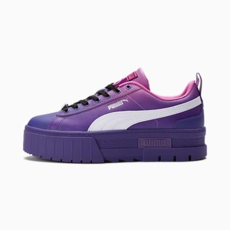 Zapatos deportivos PUMA x BRATZ Mayze de mujer, Prism Violet-Spring Crocus, pequeño