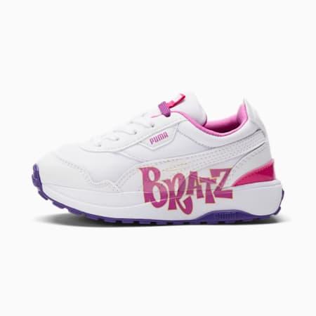 Zapatos Cruise Rider PUMA x BRATZ para niños pequeños, Puma White-Spring Crocus, pequeño