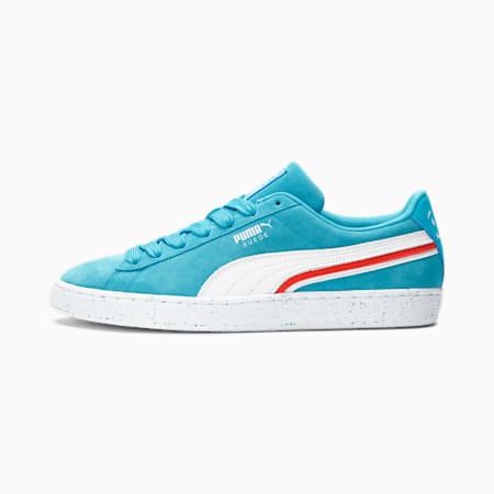 Zapatos deportivos PUMA x Kool-Aid Suede Triplex para hombre, Blue Atoll-Puma White, pequeño