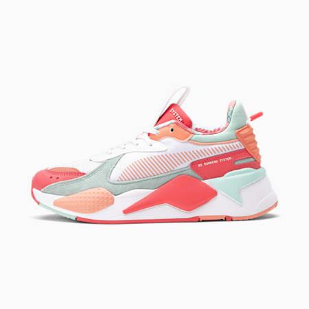 Zapatos deportivos RS-X FLOWER Aura 2 JR, Puma White-Paradise Pink-Eggshell Blue, pequeño