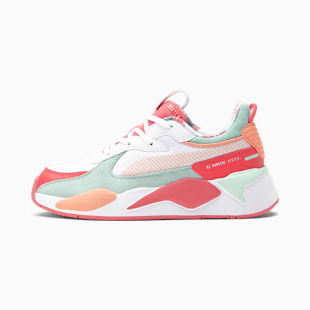 Zapatos RS-X FLOWER Aura 2 para niño pequeño, Puma White-Paradise Pink-Eggshell Blue, pequeño