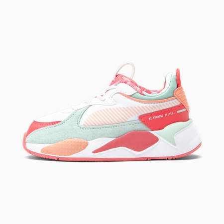 Zapatos RS-X Flower Aura 2 para bebé, Puma White-Paradise Pink-Eggshell Blue, pequeño