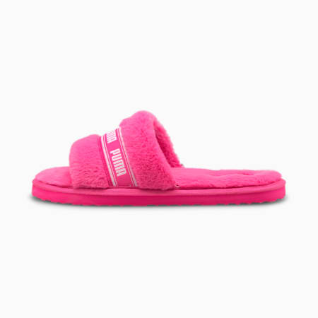 Fluff pantoffel voor dames, Fluo Pink-Puma White, small