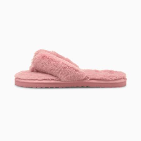 Zapatos PUMA Fluff Flip para mujer, Lotus-Puma White, pequeño