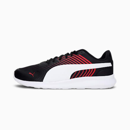 Cave Unisex Shoes, Puma Black-High Risk Red-Puma White, small-IND