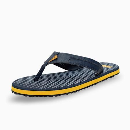 Oleum 5  Men's Flip Flops, Spellbound-Blue Fog-Spectra Yellow, small-IND