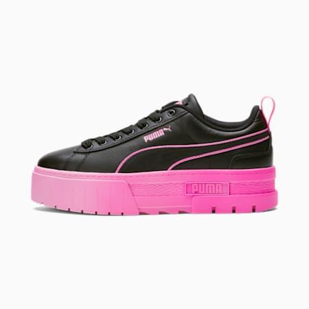 Zapatos deportivos Mayze BCA para mujer, Puma Black-Luminous Pink, pequeño