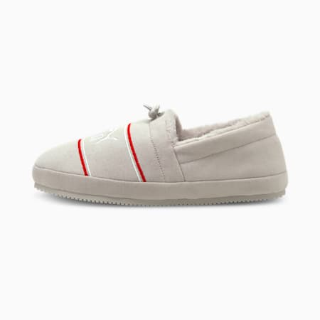 Tuff Mocc Jersey Slippers, Nimbus Cloud-Puma White-High Risk Red, small-GBR