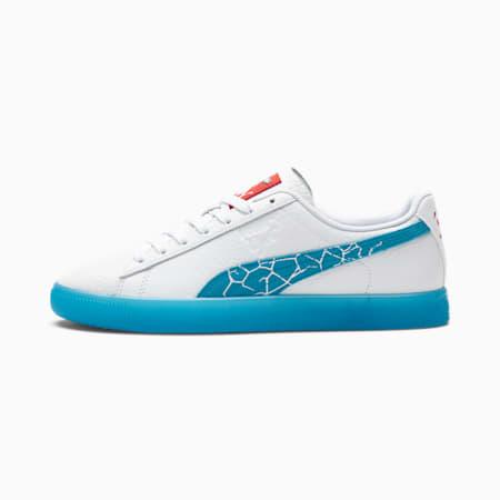 Zapatos deportivos PUMA x Kool-Aid Clyde para hombre, Puma White-Blue Atoll, pequeño