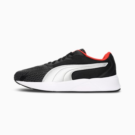 Pacer Uprise V2 Unisex Shoes, Puma Black-Dark Shadow-Grenadine-Silver, small-IND