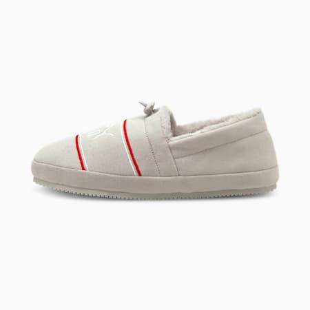 Zapatos Tuff Mocc Jersey JR, Nimbus Cloud-Puma White-High Risk Red, pequeño