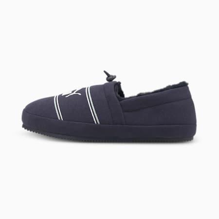 Zapatos Tuff Mocc Jersey JR, Peacoat-Puma White-Glacier Gray, pequeño
