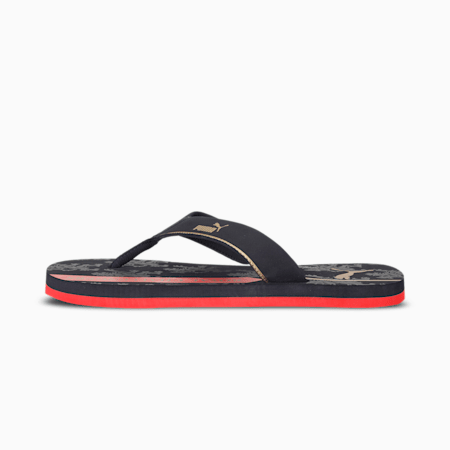 Royal Challengers Bangalore Men's   IDP Fanwear Flip Flops V2, Navy Blazer-Flame Scarlet-, small-IND
