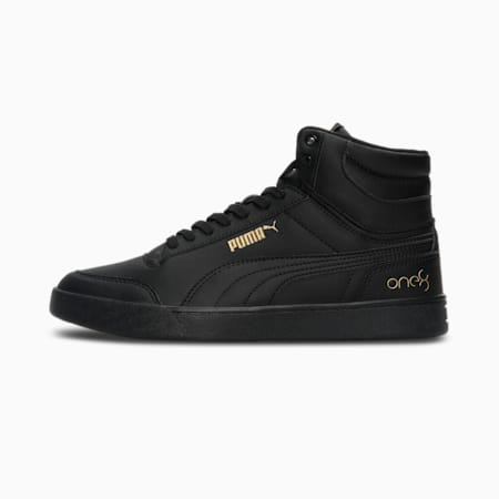 one8 Shuffle Mid Men's Sneakers, Puma Black-Puma Team Gold, small-IND