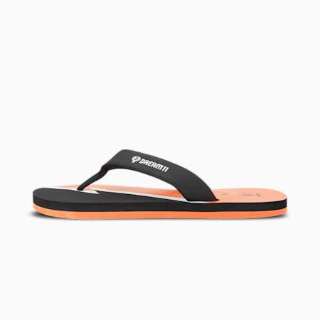 PUMA x Dream11 Unisex Flip Flops, Vibrant Orange-Puma Black-Puma White, small-IND
