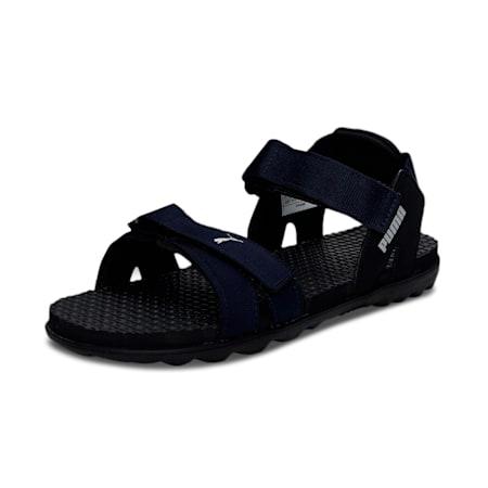 PUMA Smooth Men's Sandals, Puma Black-Navy Blazer, small-IND