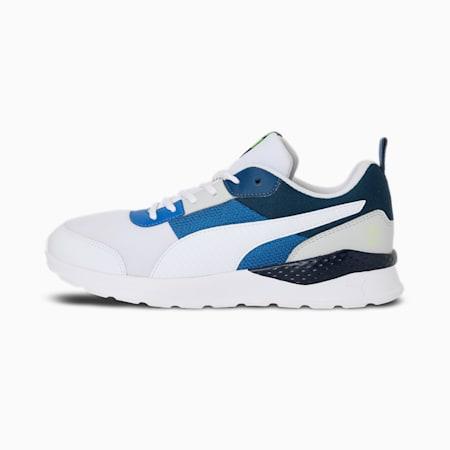 PUMA x 1DER Seattle Men's Shoes, Puma White-Vallarta Blue-Gray Violet-Yellow Alert, small-IND