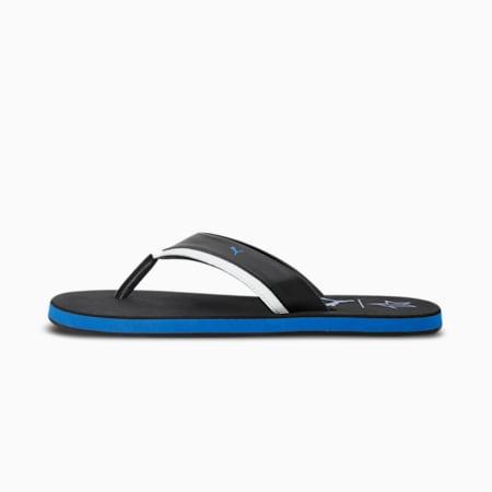 PUMA x 1DER Missouri Men's Flip Flops, Puma Black-Spring Blue-Puma White, small-IND