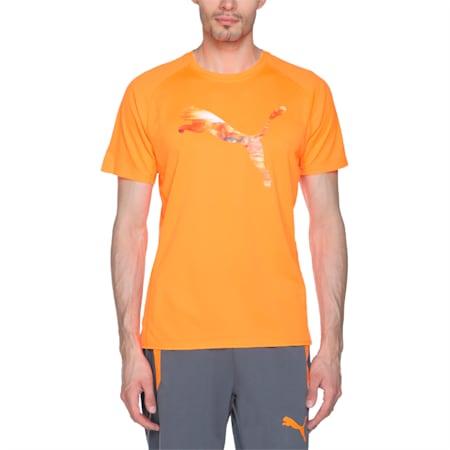 Running Logo T-Shirt, Shocking Orange, small-IND