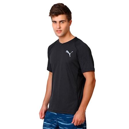 Active Training Vent Stripe T-Shirt, black-W/ Asphalt, small-IND