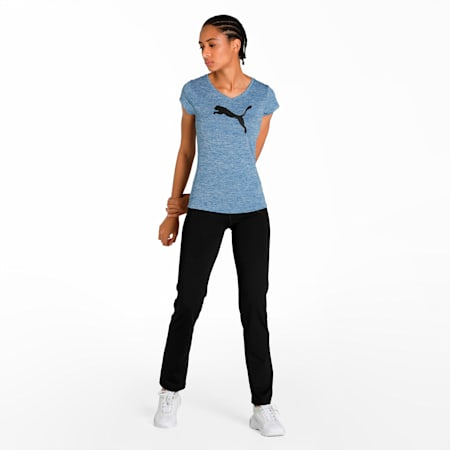 Active Training Women's Heather Cat T-Shirt, TRUE BLUE Heather, small-IND