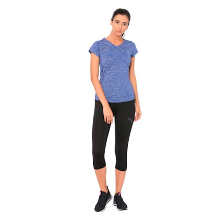 Active Training dryCELL Women's Heather Cat T-Shirt, Blue Depths Heather, small-IND