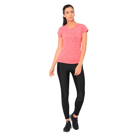 Active Training dryCELL Women's Heather Cat T-Shirt, Love Potion Heather, small-IND