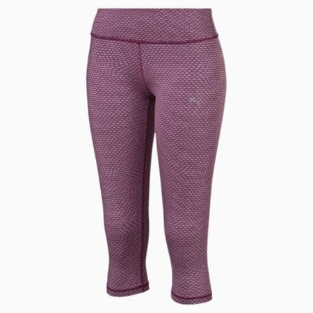 Active Training Women's All Eyes On Me 3/4 Tights, magenta purple heather, small-IND