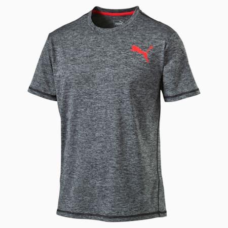 Training Men's Essential Puretech Heather T-Shirt, Dark Gray Heather, small-SEA