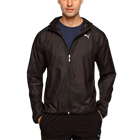 PE_Hooded Lightweight Jacket, Puma Black, small-IND