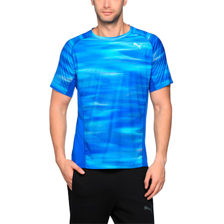 Running Men's Graphic T-Shirt, TRUE BLUE Heather, small-IND