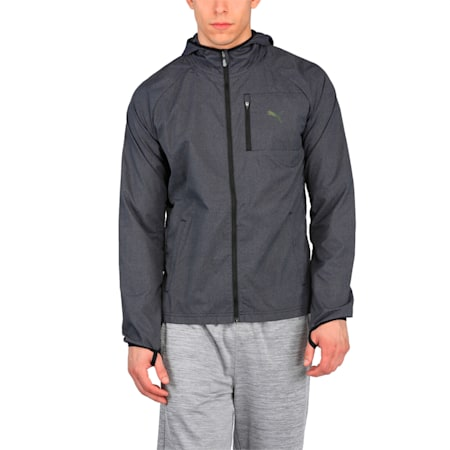 Running Men's NightCat Jacket, Puma Black Heather, small-IND