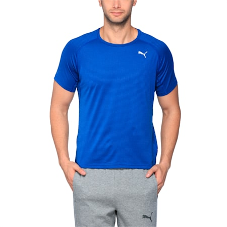 Running Men's Speed T-Shirt, TRUE BLUE Heather, small-IND
