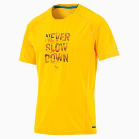 Running Men's PWRCOOL Slogan T-Shirt, ULTRA YELLOW, small-SEA
