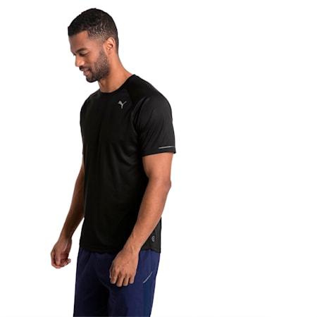 Męska koszulka do biegania, Puma Black, small