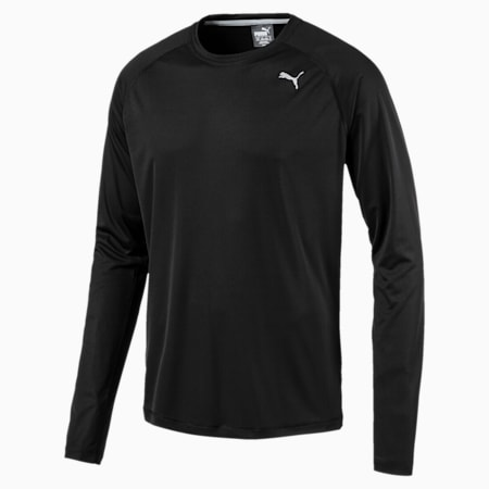 Camiseta de running de manga larga Core-Run para hombre, Puma Black, small