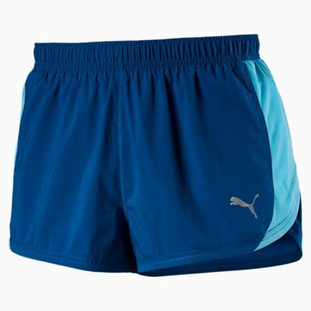 Running Men's Split Shorts, Lapis Blue, small-SEA