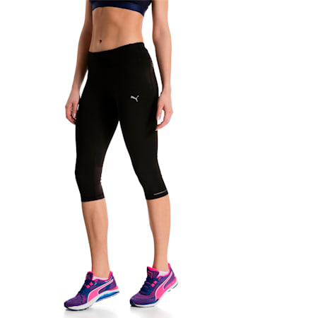 Mallas 3/4 Running para mujer, Puma Black, small